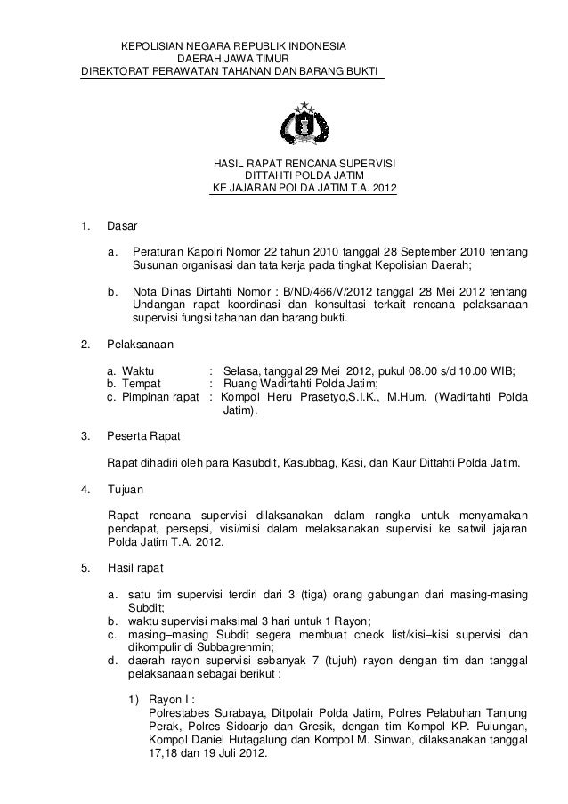 Rencana Supervisi Tahti 2012