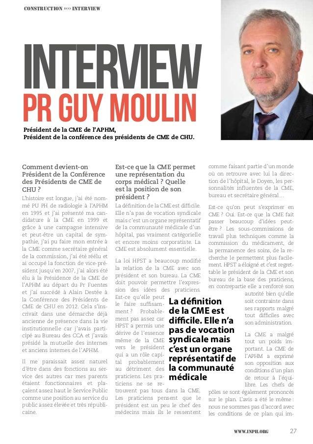 Réflexion ›››› DOSSIER CONCLUSION INTERVIEW PrGuyMOULIN Comment devient-on Président de la Conférence des Présidents de CM...