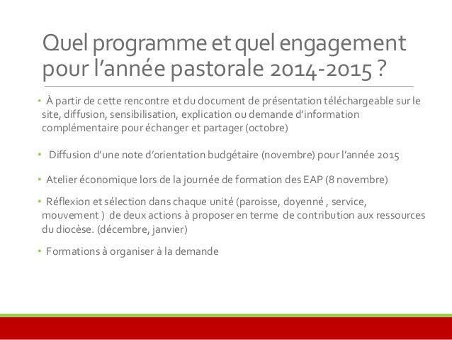 Rencontre économique du diocèse d'angoulême   19 septembre 2014
