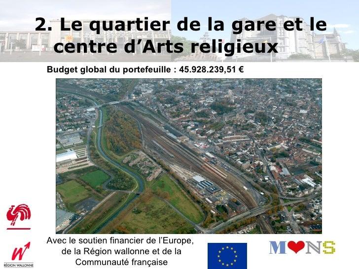 Porte d'entrée de la Cité : revitalisation globale du quartier(façades et voiries) : 5.396.328€Part subsidiée : 4.856.695€...