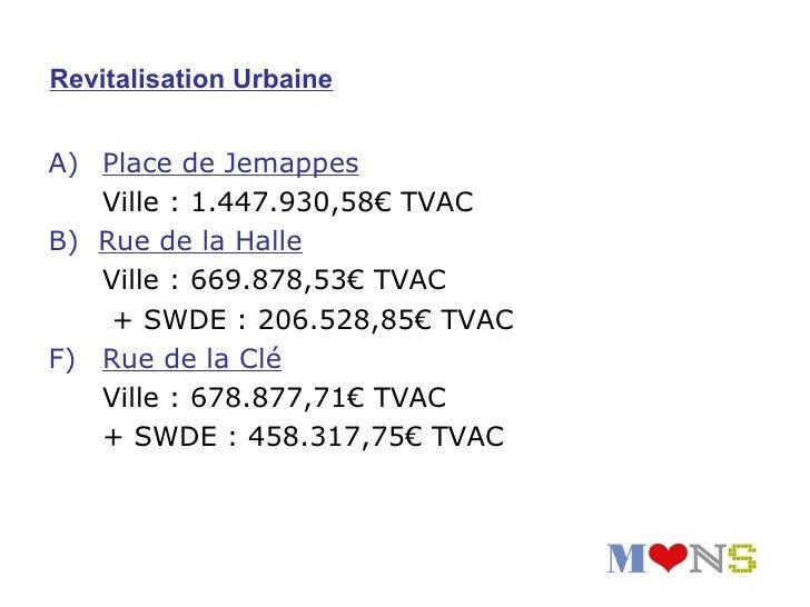 Calva d'Havré : 1.445.950€ TVACFinancement : 100% Régie Foncière