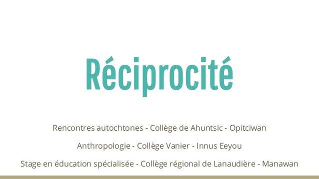 ConseildesservicessociauxdeManawan -CollègerégionaldeLanaudière PartenariatenÉducationSpécialisée