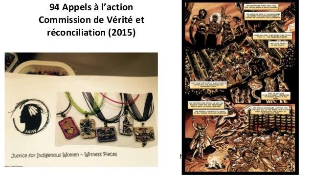 L'éducation pour la réconciliation Appels à l'action, CVR 2015 62. Nous demandons aux gouvernements fédéral, provinciaux e...
