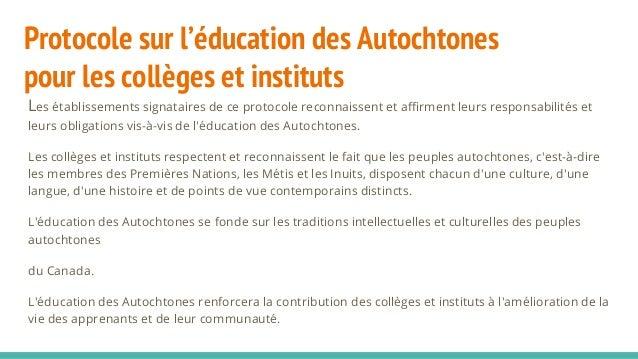 6 Signataires du Protocole pour l'éducation autochtone de Collèges et Instituts Canada au Québec Cégep de l'Abitibi-témisc...
