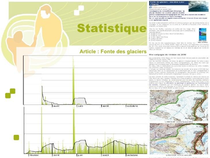 Statistiques Article : Fonte des glaciers