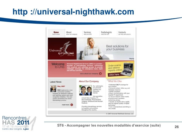 http ://universal-nighthawk.com           ST6 - Accompagner les nouvelles modalités d'exercice (suite)   26