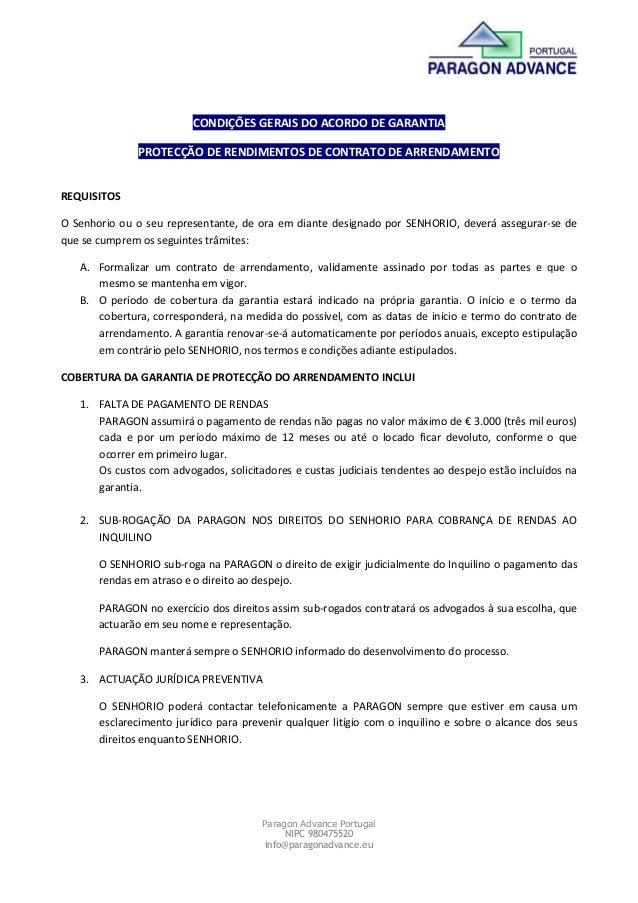 Paragon Advance PortugalNIPC 980475520info@paragonadvance.euCONDIÇÕES GERAIS DO ACORDO DE GARANTIAPROTECÇÃO DE RENDIMENTOS...