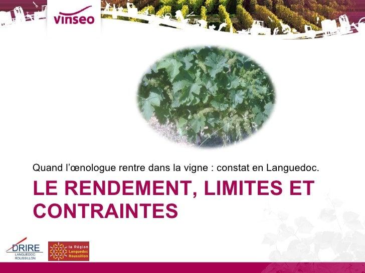 Rendements Vinseo 2009 Slide 2