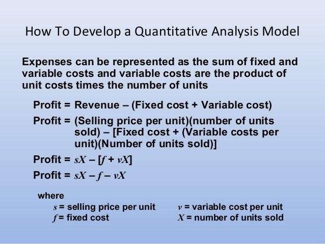 Chapter IIntro To Quantitative Analysis