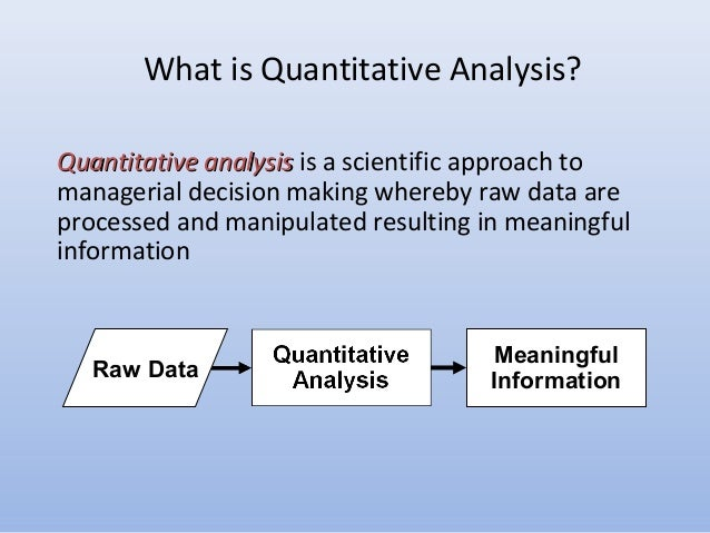 Sample Quantitative Analysis Integration Of Qualitative And
