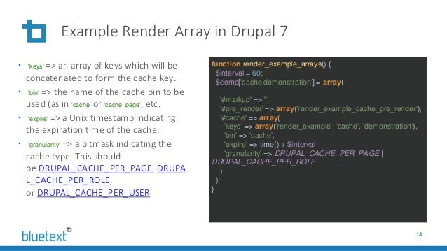 Render Caching for Drupal 8