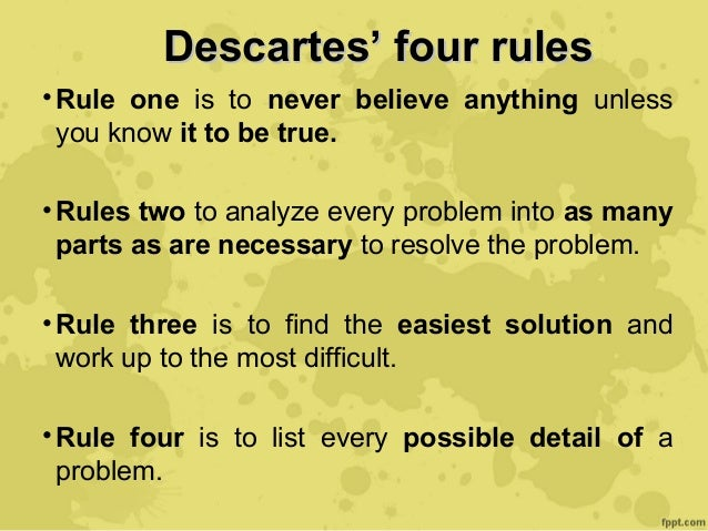 descartes method of doubt and existence of god Essays - largest database of quality sample essays and research papers on descartes method of doubt.
