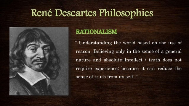 rene descartes essay Rene descartes is a philosopher who questioned some of these situations in my paper i will discuss rene descartes beliefs, specifically talking about his first principle, dealing with what he thinks.