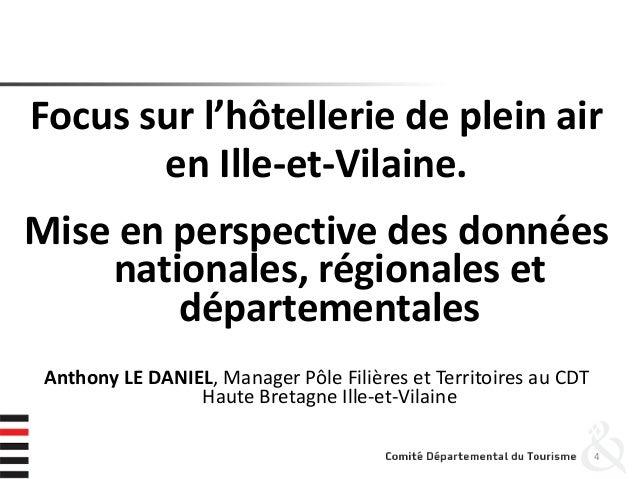 Focus sur l'hôtellerie de plein air en Ille-et-Vilaine. Mise en perspective des données nationales, régionales et départem...