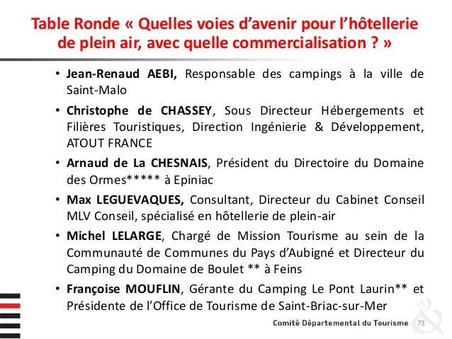 Table Ronde « Quelles voies d'avenir pour l'hôtellerie de plein air, avec quelle commercialisation ? » • Jean-Renaud AEBI,...