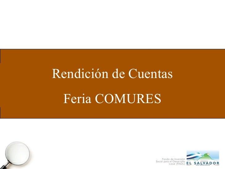 Rendición de Cuentas Feria COMURES