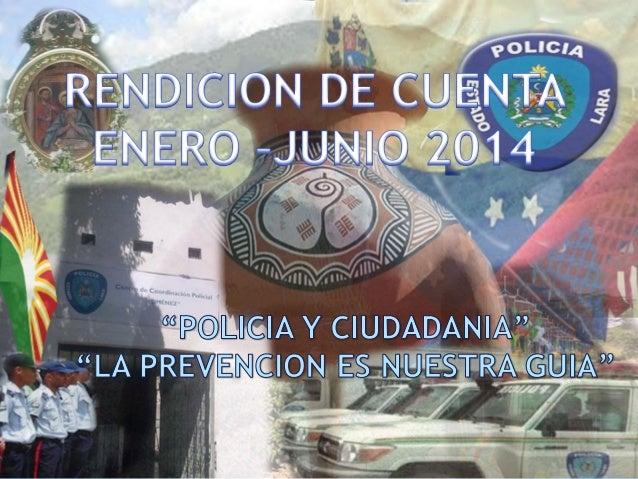 RENDICION DE CUENTAS ENERO –JUNIO 2014