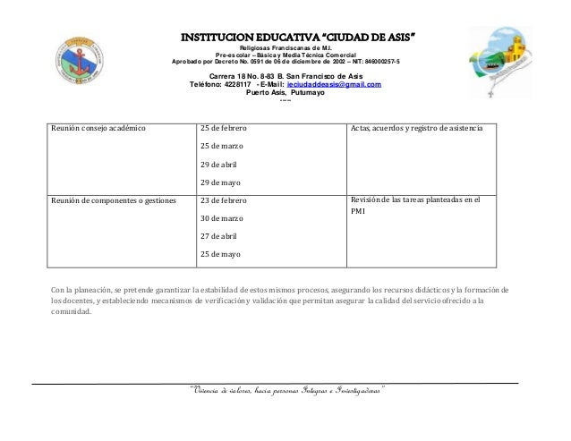Rendicion de cuentas coordinación académica Institución Educativa Ciudad de Asis 2015 Slide 2