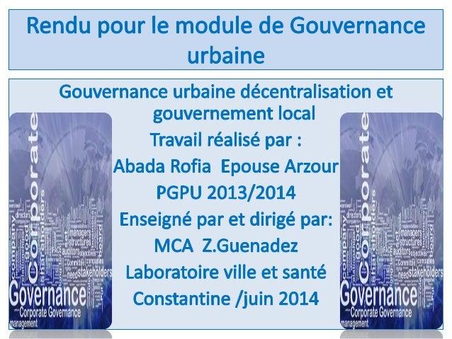 4/Définition de la décentralisation