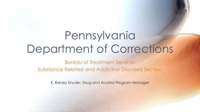 Bureau of Treatment Services Substance Related and Addictive Disorders Section E. Renea Snyder, Drug and Alcohol Program M...