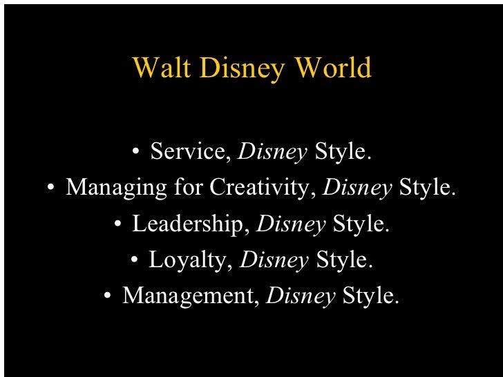 The Leadership of Walt Disney