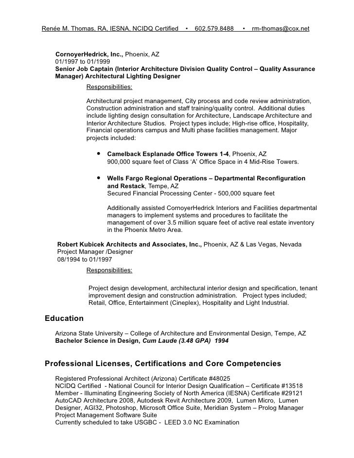 Resume Samples Construction Project Manager Example