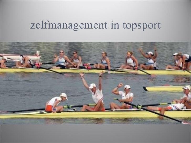 zelfmanagement in topsport