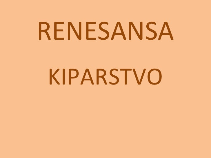 RENESANSAKIPARSTVO