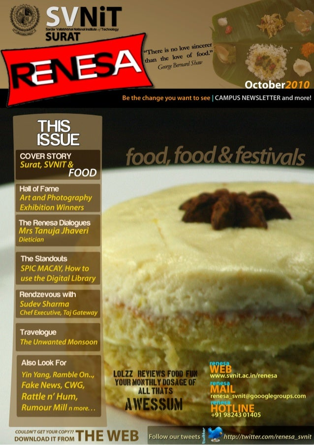 Be the change you want to see  THlS lSSUE  COVER STORY Surat,  $VNIT&  FOOD  Hall of Fame Art and Photography i  Exhibitio...