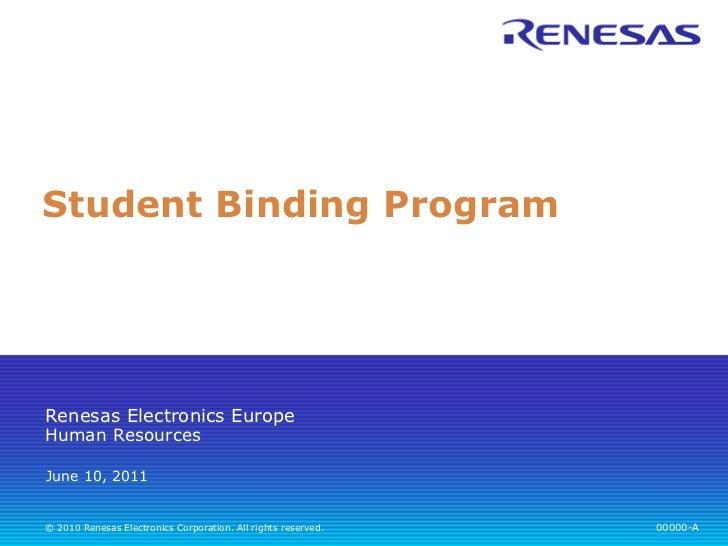 Student Binding Program