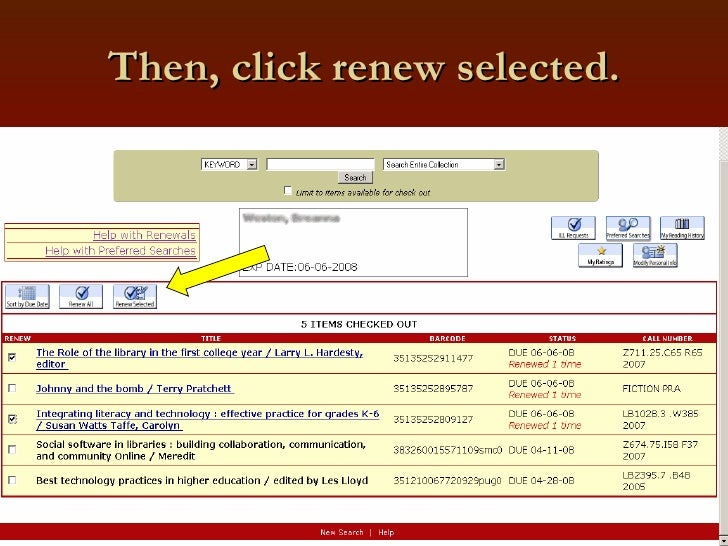 Then, click renew selected.