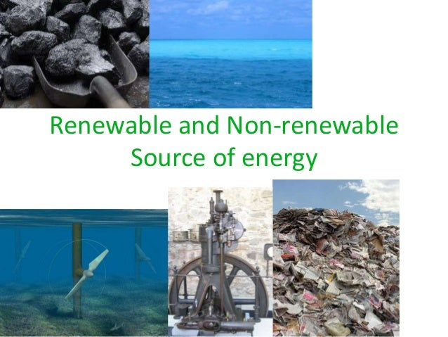 renewable and non renewable energy sources pdf