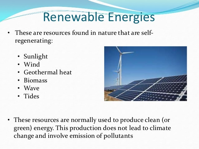 Renewable And Non Renewable Energies