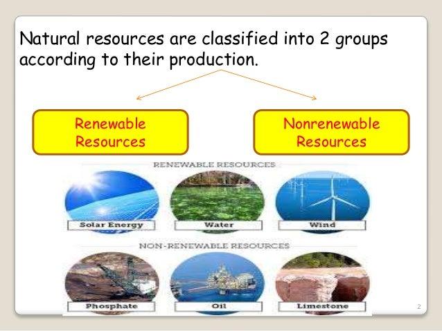 Natural Vs Renewable Resources