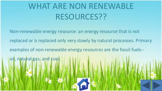 Essay on Renewable and Non-Renewable Resources