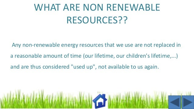 Natural Resources Renewable And Nonrenewable Resources