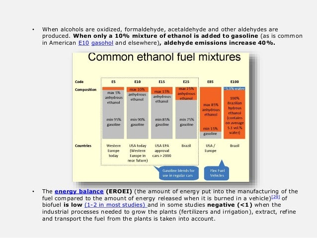 • When alcohols are oxidized, formaldehyde, acetaldehyde and other aldehydes are produced. When only a 10% mixture of etha...