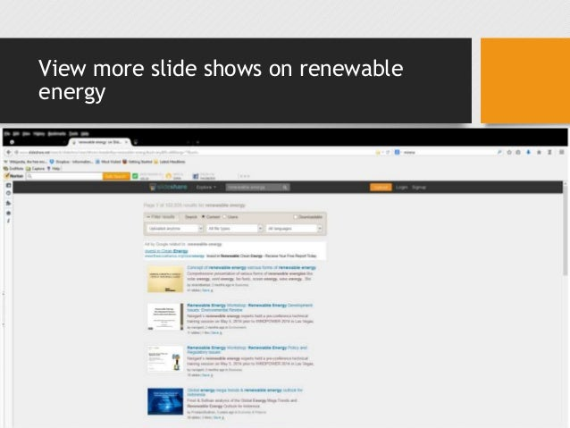 View more slide shows on renewable energy •