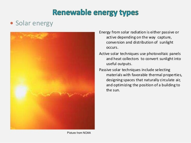 Energy from solar radiation is either passive or active depending on the way capture, conversion and distribution of sunli...