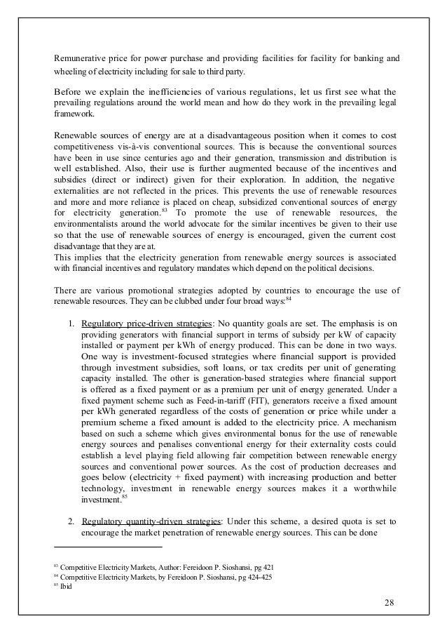 study on alternative energy sources