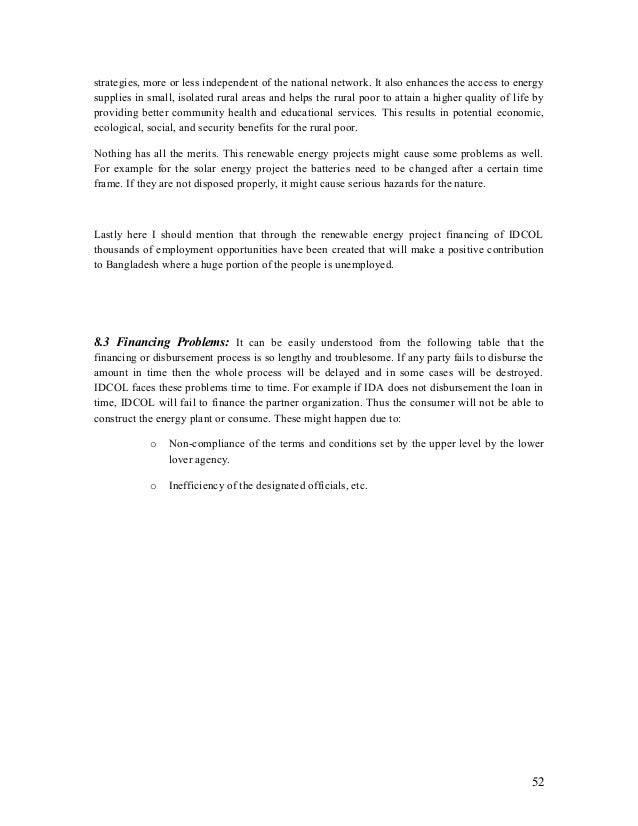 Internship report reachers report about Renewable energy project fina…