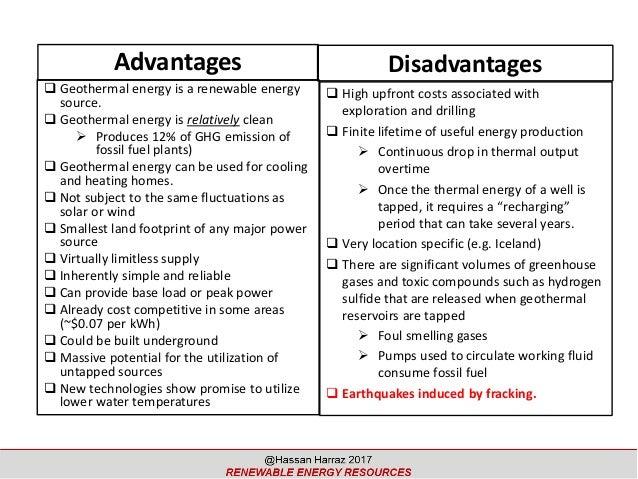 advantages and disadvantages of renewable energy sources pdf