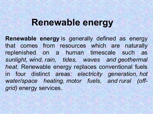 Renewable energy essay