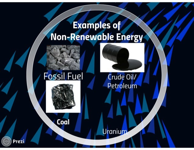 What are some examples of nonrenewable energy resources? | socratic.