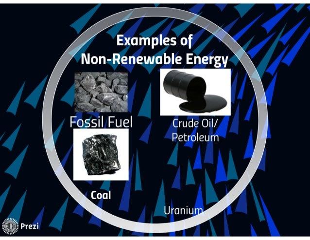 Renewable Non Renewable Energy Sources
