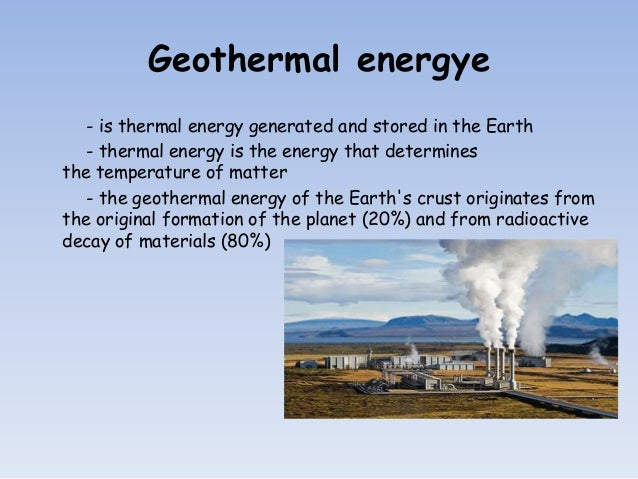 Geothermal energy rare renewable energy