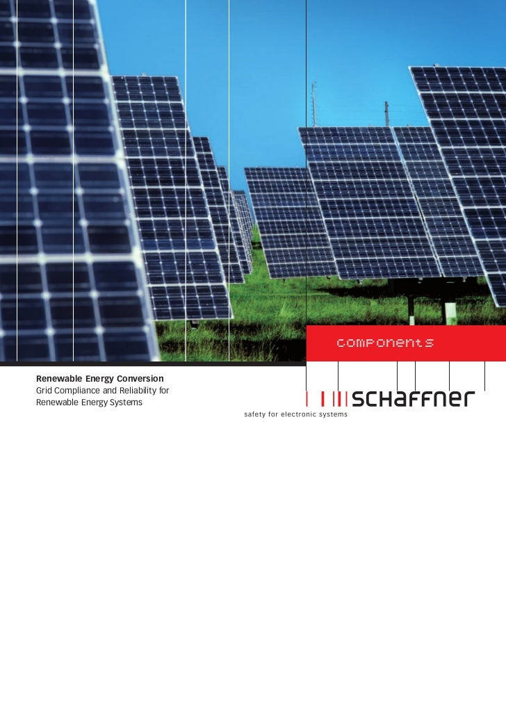 componentsRenewable Energy ConversionGrid Compliance and Reliability forRenewable Energy Systems