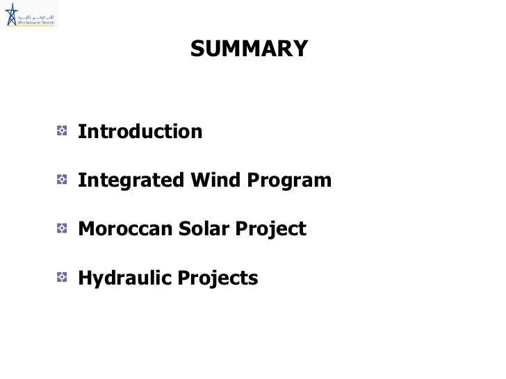 Proyectos de Energías Renovables en Marruecos
