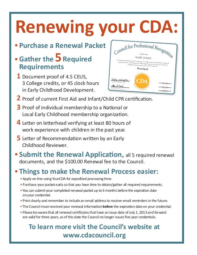 cda renewal flyer