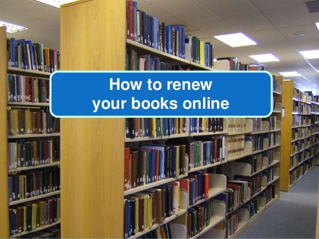 How to renew your books online
